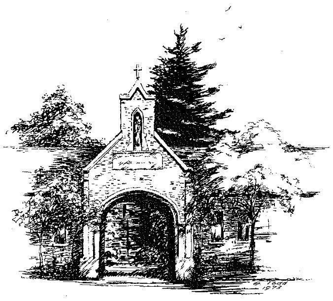 Ink Drawing of Porter's Lodge
